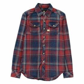 G Star Landoh Long Sleeve Shirt - indigo/antic re