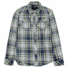 G Star Landoh Long Sleeve Shirt - indigo/yellow c