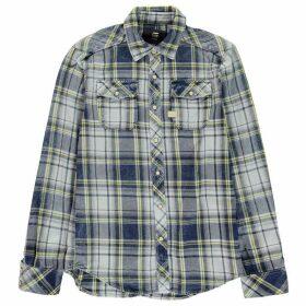 G Star Landoh Long Sleeve Shirt - indigo/yellow c