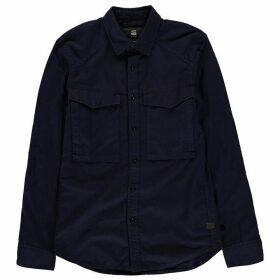 G Star Vodan Straight Shirt - dk saru blue