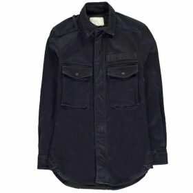 G Star Type C Straight Long Zip Shirt - rinsed