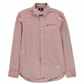 G Star Oxford Buttoned Shirt - burned red/whit
