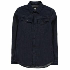 G Star 3301 Long Sleeve Shirt - rinsed