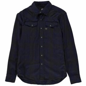 G Star Tacoma Long Sleeve Shirt - indigo/asfalt c