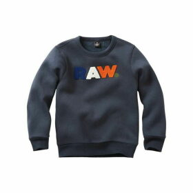 G Star Kid Boy Sweat Shirt Marine Blue - MARINE BLUE