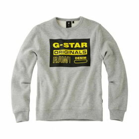 G Star Junior Boy Sweat Shirt China Grey - CHINA GREY