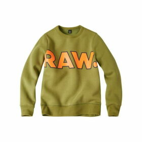 G Star Junior Boy Sweat Shirt Kaki Green - KAKI GREEN