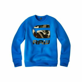 G Star Junior Boy Sweat Shirt Royal Blue - ROYAL BLUE