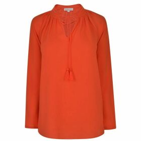 MICHAEL MICHAEL KORS Embroidered Long Sleeved Top - Mandarin