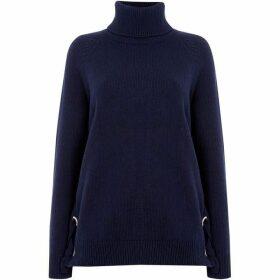 MICHAEL Michael Kors Lacing sides knitwear - Navy