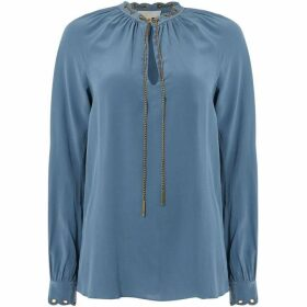 MICHAEL Michael Kors Scallop grommet chain top - Blue