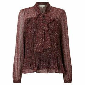 MICHAEL Michael Kors Prairie vine bow blouse - Dark Red