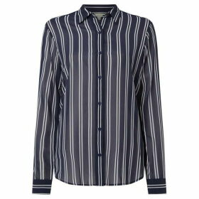 MICHAEL Michael Kors Striped straight shirt - Navy