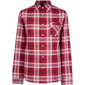Pretty Green Large Check Shirt - Red