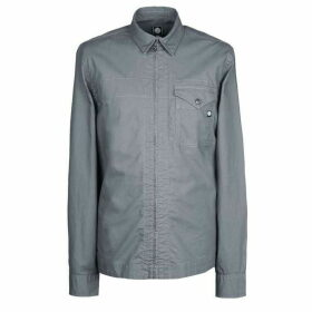 Pretty Green Slim Fit Zip Front Shirt - Grey