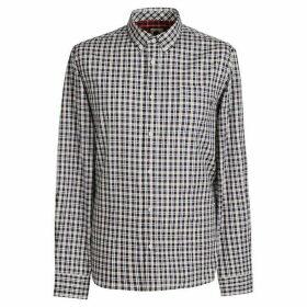 Pretty Green Classic Fit Check Shirt - White