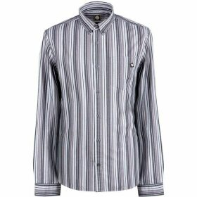 Pretty Green Slim Fit Engineered Stripe Shirt - Grey