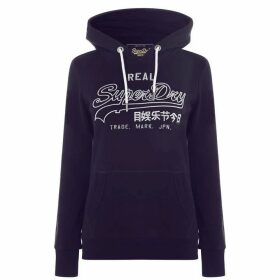 Superdry Embroidered Hoodie - Rinse Navy JVK