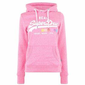 Superdry Vintage Logo Hoodie - Neon Pink AS1