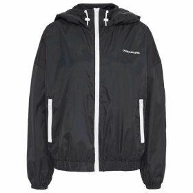 Calvin Klein Jeans Nylon Windbreaker Jacket - CK Black