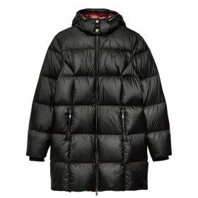 Jack Wills Kershaw Padded Long Line Coat - Black