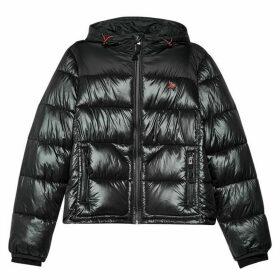 Jack Wills Piper Hooded Padded Jacket - Black