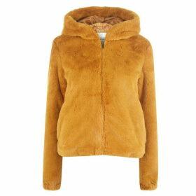 JDY Kiwi Faux Fur Hoodie - Gold