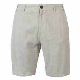 Pierre Cardin Linen Shorts Mens - Stone