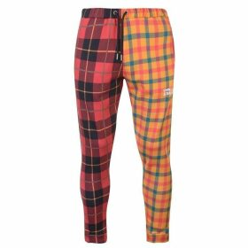 Swallows and Daggers Checked Print Jogging Pants - Red/Yellow