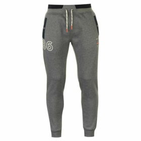 SoulCal Deluxe Popper Jogging Pants - Navy/Grey