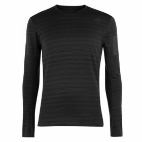 adidas RUN R Long Sleeve T Shirt Mens - Black