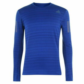 adidas RUN R Long Sleeve T Shirt Mens - Royal