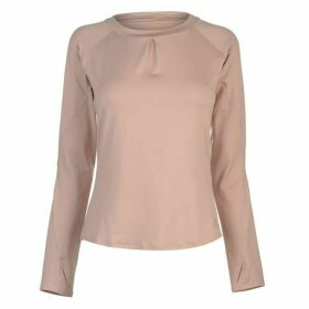 adidas TKO Long Sleeve T Shirt Ladies - Ash Pearl