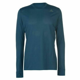 adidas Snova Long Sleeve Running Top Mens - Blue