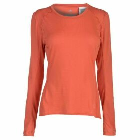 adidas FR Supernova Long Sleeve T Shirt Ladies - Trace Scarlet