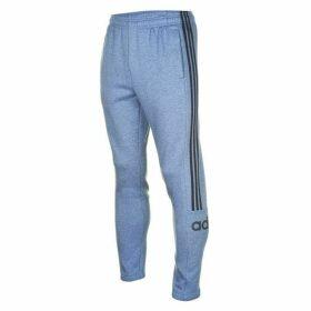 adidas 3 Stripe Logo Jogging Pants Mens - LtBlueMarl/Navy