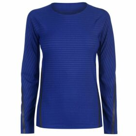 adidas TechFit Long Sleeve T Shirt Ladies - Mystery Ink