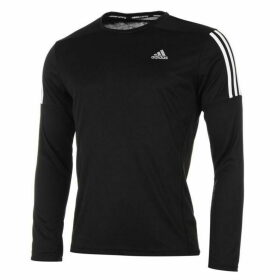 adidas Questar Long Sleeve Running Top Mens - Black/White