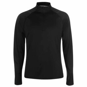 Asics Icon Long Sleeve Zip Top Mens - Black