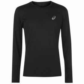 Asics Core Long Sleeve Running T Shirt Mens - Black