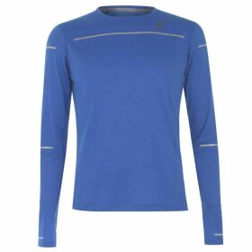 Asics Lite Show Long Sleeve T Shirt Mens - Illusion Blue