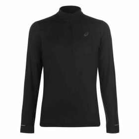 Asics Long Sleeve Running Top Mens - Black