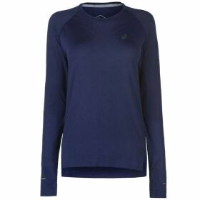 Asics Seamless Long Sleeve T Shirt Ladies - Indigo Blue