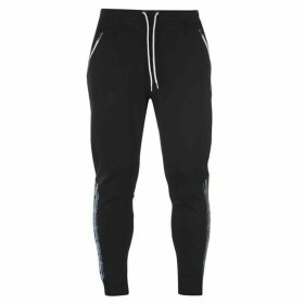 Champion Taped Cuffed Sweatpants - Black