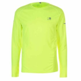 Karrimor Long Sleeved Running T Shirt Mens - Fluo Yellow