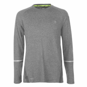 Karrimor XLite Long Sleeve T Shirt Mens - Light Grey Marl