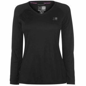 Karrimor Long Sleeve Running T Shirt Ladies - Black