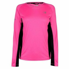 Karrimor Long Sleeve Running T Shirt Ladies -  Fluo Pink