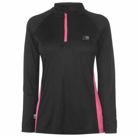 Karrimor Quarter Zip Long Sleeve Top Ladies - Black/Pink