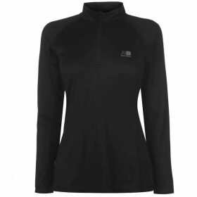Karrimor Quarter Zip Long Sleeve Top Ladies - Black